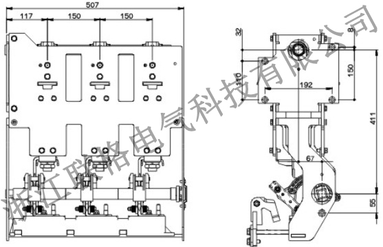 ZLGV-12kV-630A充气柜断路器(带隔离带接地)2.jpg